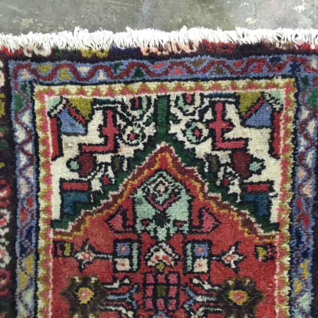 "Vintage Hamadan Persian Rug - 1'5"" x 2'11"" - Image 4 of 8"