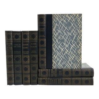 Vintage Blue Book Set: World's Popular Classics - Set of 7