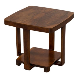 Art Deco Vintage French Walnut Table circa 1930