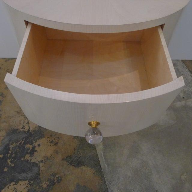 Italian-Inspired 1970S Style Oval Nightstand - Image 7 of 8