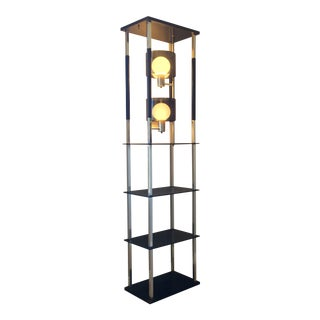 Danish Modern Lighted Display Shelf
