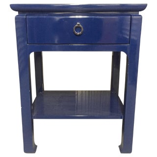 Bungalow 5 Bedside Table in Blue Lacquer