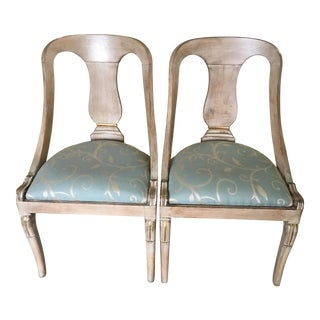 Roman Style Library Chairs - A Pair
