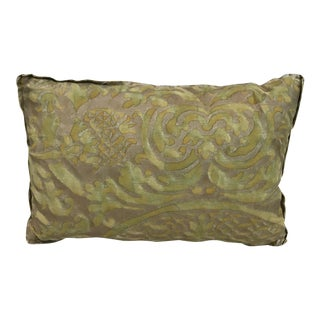 Fortuny Green & Gold Pillow