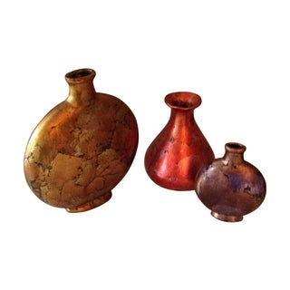 Round Flate Flask Vases
