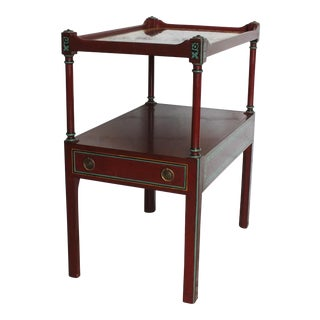 Vintage Smith & Watson Lacquered Walnut Nightstand
