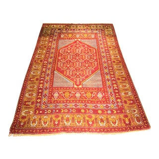 "Bellwether Rugs Vintage Turkish Oushak Rug - 4'5"" X 6'10"""