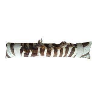 Natural Zebra Mane Lumbar Pillow