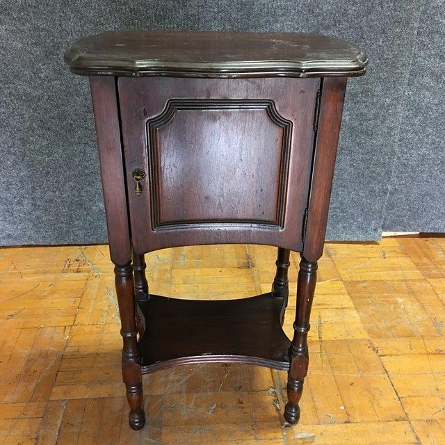 Vintage Antique Side Cabinet Table - Image 2 of 7