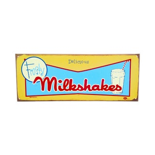 Vintage Look Marty Mummert  Milkshakes Sign