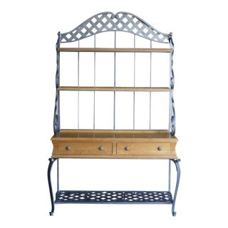 Ethan Allen Country French Baker's Rack With Console