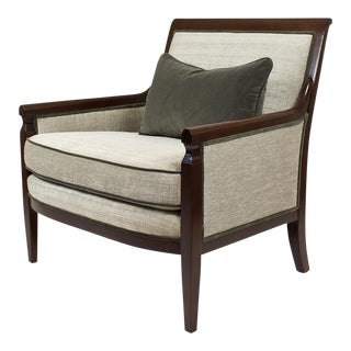 Walnut Baker Gray Armchair