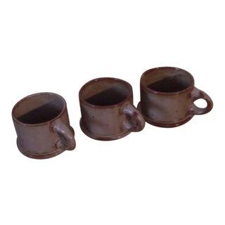 "Dansk ""BLT"" Spice Tan Stoneware Mugs - Set of 3"