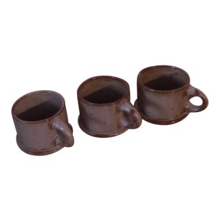 "Dansk ""BLT"" Spice Tan Stoneware Mugs - Set of 3"