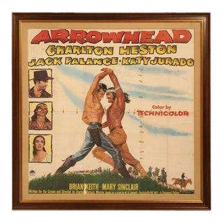 Arrowhead Starring Charlton Heston Circa 1953 Movie Poster