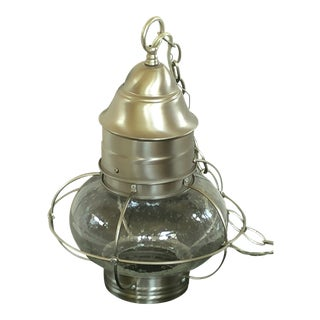 Nautical Brushed Nickel Pendant Light