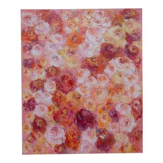 """Summer Roses"", Original Canvas, Sheema Muneer"