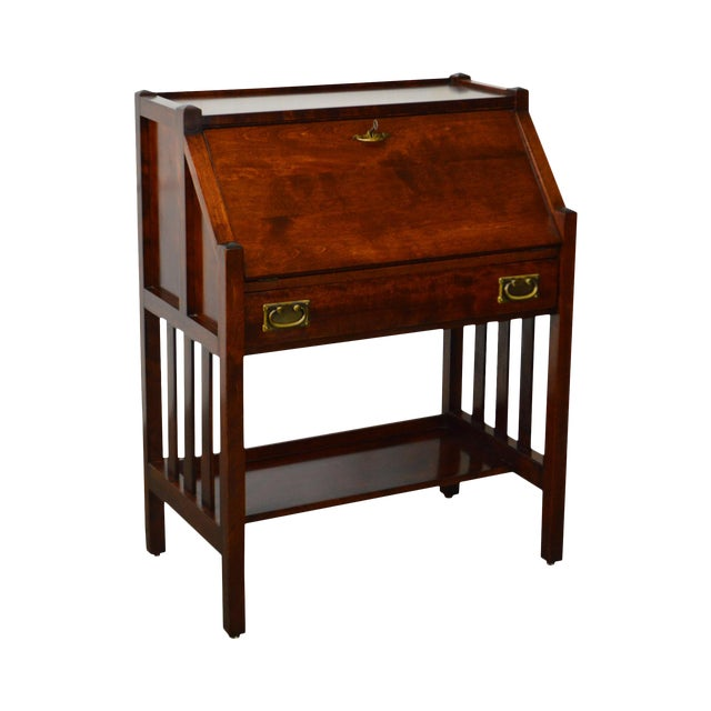 Danner Antique Mission Style Mahogany Slant Lid Writing Desk - Danner Antique Mission Style Mahogany Slant Lid Writing Desk