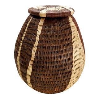 Botswana African Lidded Basket