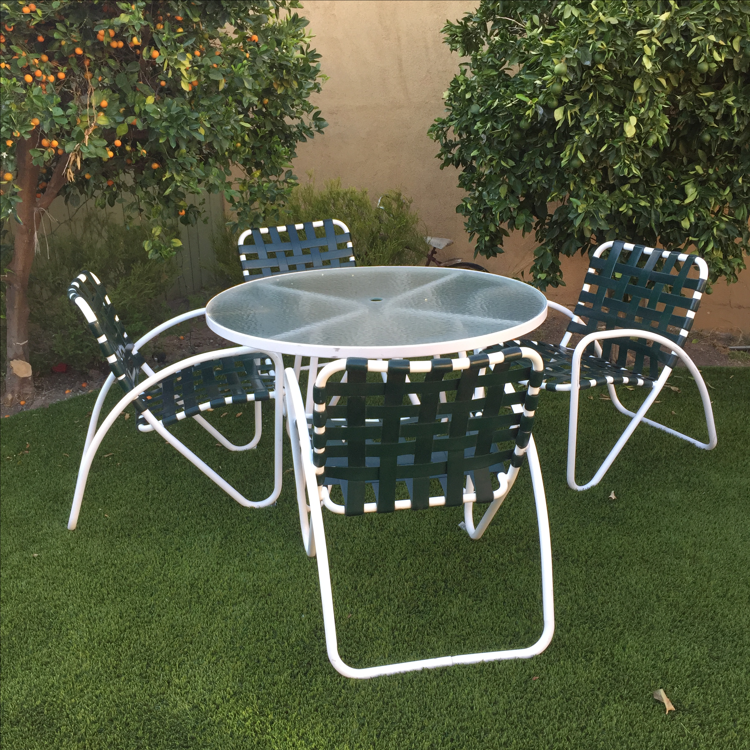 Captivating 5 Piece Vintage Brown Jordan Patio Set   Image 3 Of 7