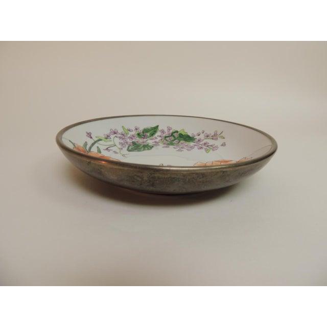 Vintage Japanese Imari Porcelain Enameled Metal Plate - Image 4 of 4