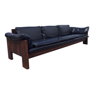 Fantastic Grain! Brazilian Rosewood Sofa Danish Modern