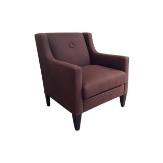 Brown Linen Michael Chair
