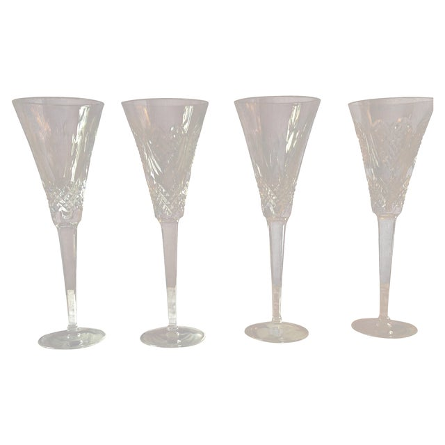Waterford Crystal Champagne Flutes - Set of 4 - Image 1 of 5