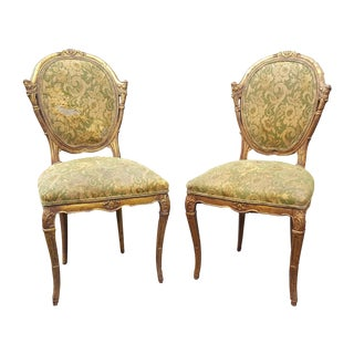 French Country Antique Accent Chairs - A Pair