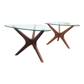 Craft Associates Walnut End Tables - A Pair
