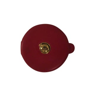 Cartier Red Leather Compact Mirror