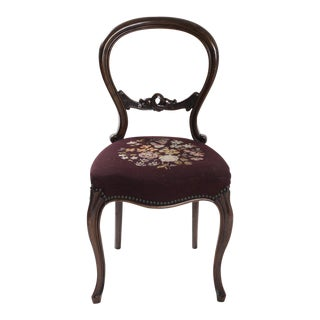 Victorian Style Needlepoint Chair