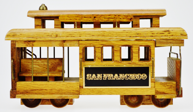 San Francisco Wooden Cable Car Music Box   Image 6 Of 10