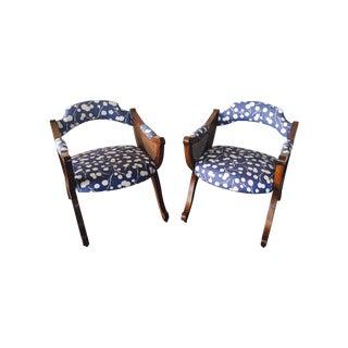 Barrel Cane Chairs -  A Pair