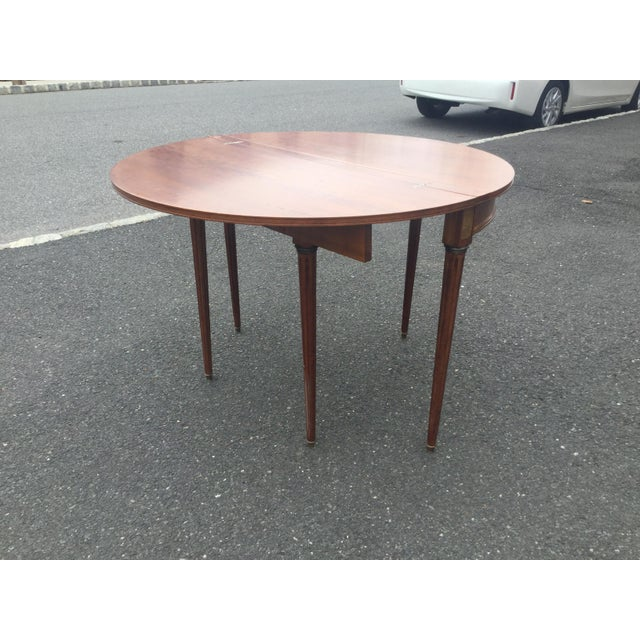 French Louis XVI Style Demi-Lune Table - Image 5 of 7