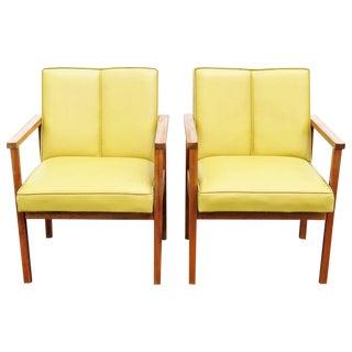 Danish Modern Walnut Lounge Chairs - A Pair