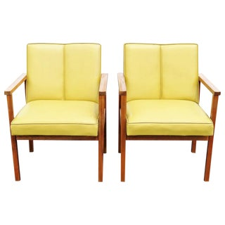 Danish Modern Walnut Lounge Chairs - A Pair