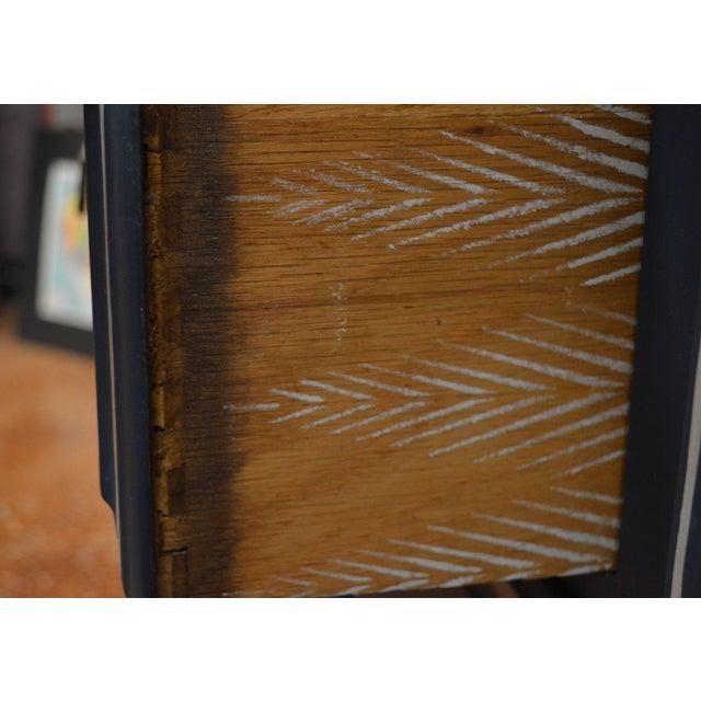 Mirrored 8-Drawer Navy Blue Dresser - Image 6 of 11
