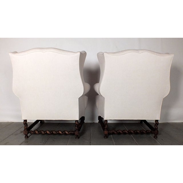 Antique Traditional Wingback Chairs - A Pair - Image 9 of 9