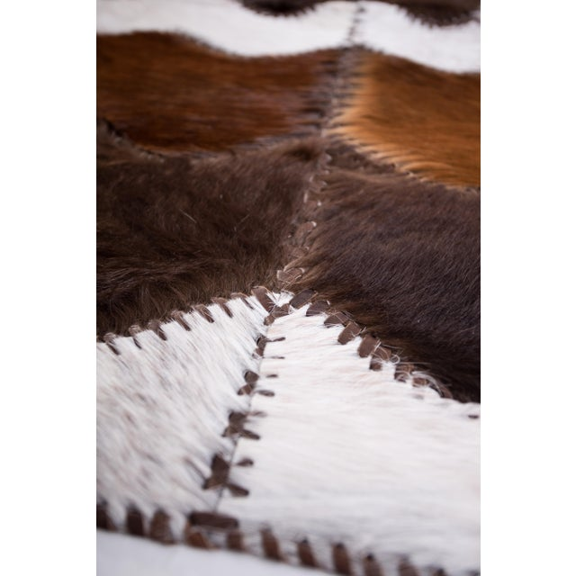 "Cowhide Patchwork Area Rug - 4' x 6'4"" - Image 7 of 8"