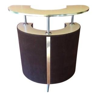 French Mid-Century Circular Bar Unit
