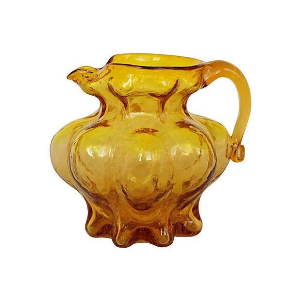 Image of Blown Amber Glass Pitcher