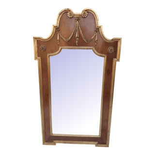 LaBarge Tortoise Shell Gilt Neoclassical Mirror