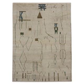 Moroccan Contemporary Brutalist Design & Tribal Motifs Rug - 9′5″ × 12′5″