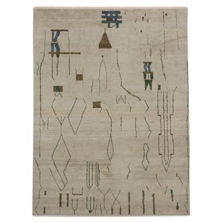 Moroccan Contemporary Brutalist Design & Tribal Motifs Rug - 9′5″ × 12′5″