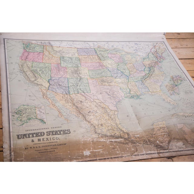 USA & Mexico Antique Pull Down Map - Image 4 of 10