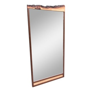 Custom Walnut Organic Mirror by Flavor Custom Design
