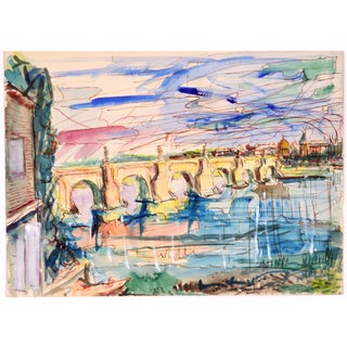 Drury Pifer Italian Arched Bridge Painting
