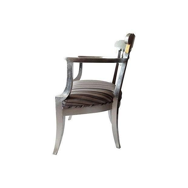 1950's Baker Silver Leaf Klismos Chair - Image 3 of 8
