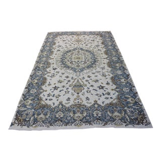 "Handmade Faded Turkish Oushak Rug - 6'1"" X 10'"